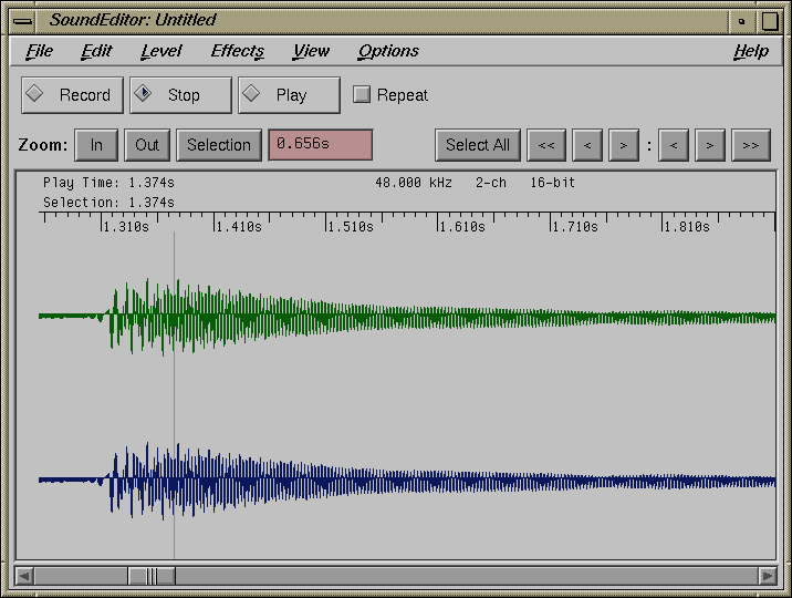 Sound in IRIX 5.3 (SoundEditor)