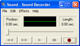 Sound in Windows XP Pro (Sound Recorder)