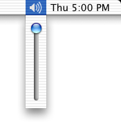 Volume level in Mac OS X Jaguar