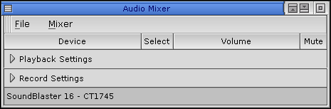 Volume level in QNX 6.2.1 NC (Audio Mixer)