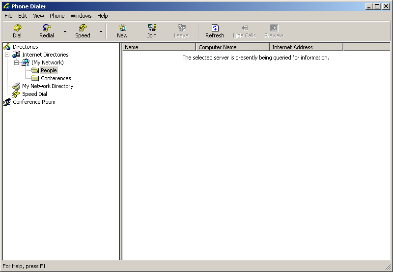 Phone dialer in Windows 2000 Advanced Server