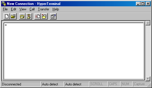 Terminal in Windows 98 (HyperTerminal)