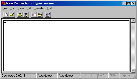 Terminal in Windows 98 SE (HyperTerminal)