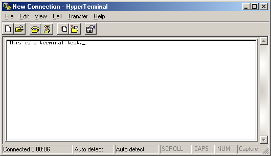 Terminal in Windows Me (HyperTerminal)