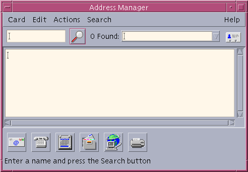 Address book in CDE 1.5 in Solaris 9 (Address Manager)