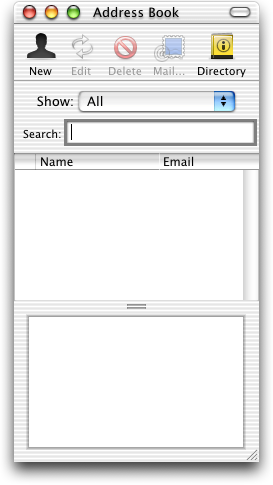 Address book in Mac OS 10.0.4 (Address Book)