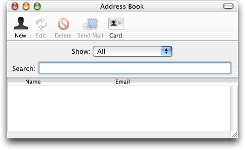 Address book in Mac OS 10.1 (Address Book)