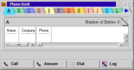 Address book in OS/2 Warp 4 (Phone/Address Book)