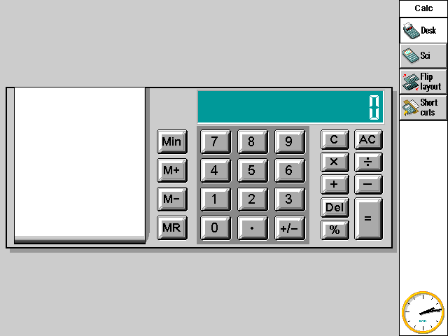 Calculator in EPOC R5/Psion Series 7 (Calc)