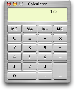 Calculator in Mac OS X Panther (Calculator)