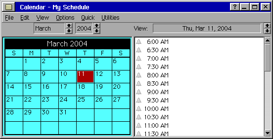 Calendar in BreadBox Ensemble Lite (Calendar)