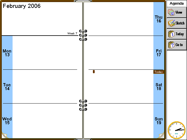 Calendar in EPOC R5/Psion Series 7 (Agenda)