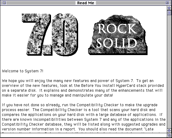 Text editor in System 7.0