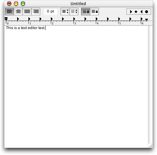 Text editor in Mac OS X Jaguar (TextEdit)