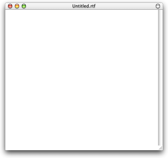 Text editor in Mac OS X DP 3 (TextEdit)