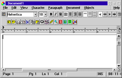 Text editor in OS/2 Warp 4