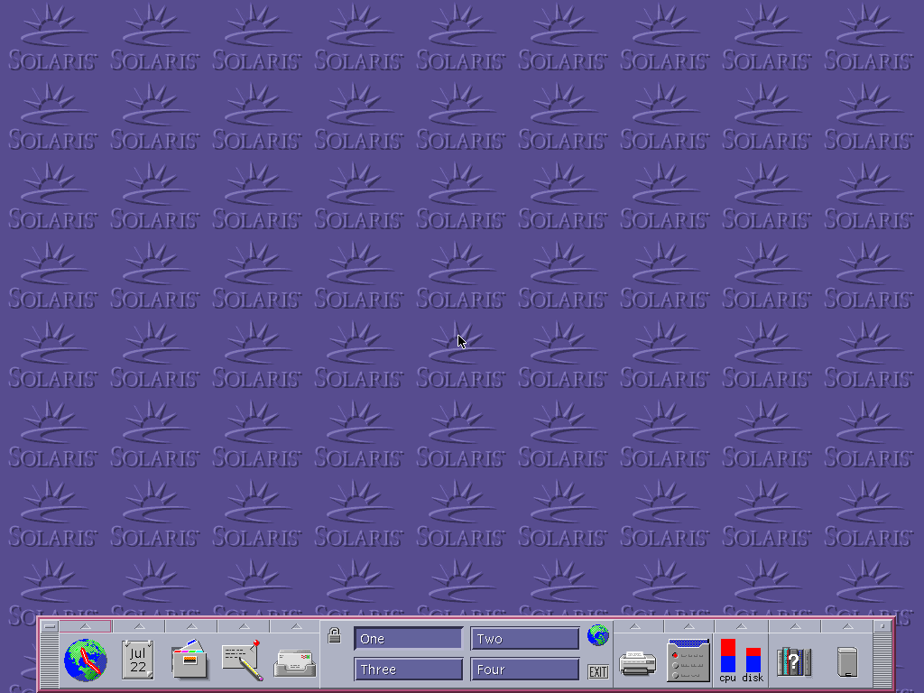 Empty desktop in CDE 1.5 in Solaris 9