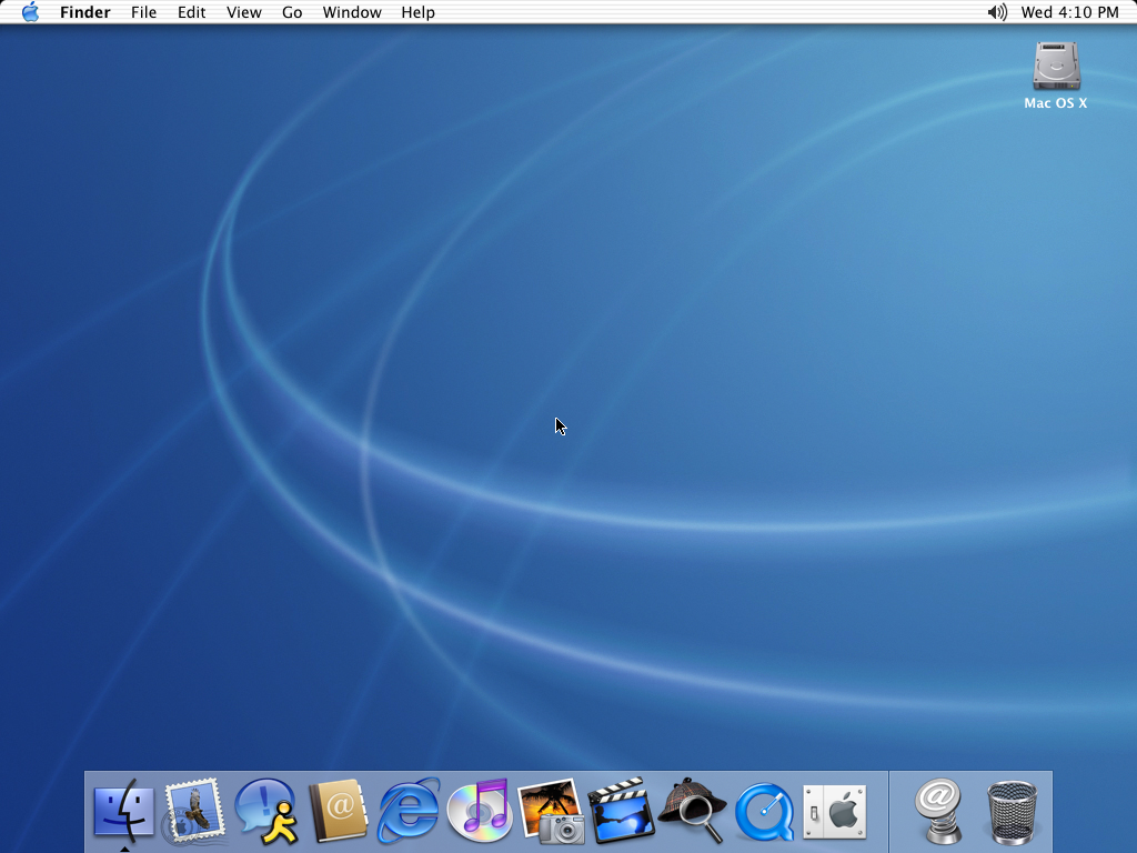 First run in Mac OS X Jaguar