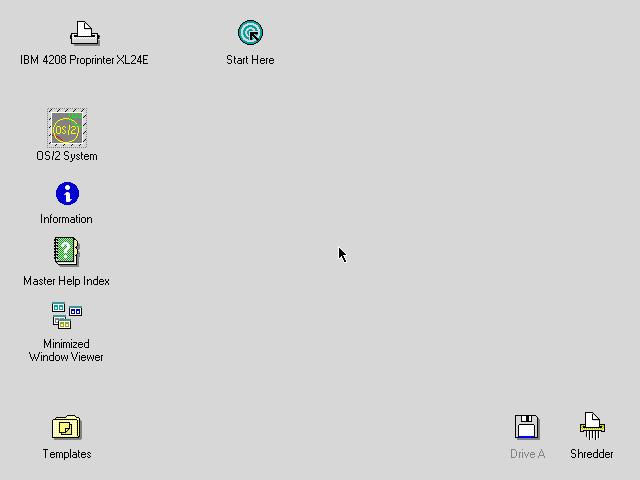OS/2 2.1 Empty Desktop