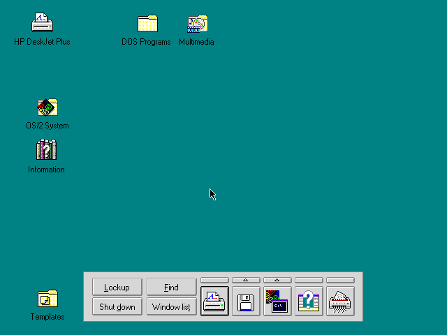 Empty desktop in OS/2 Warp 3