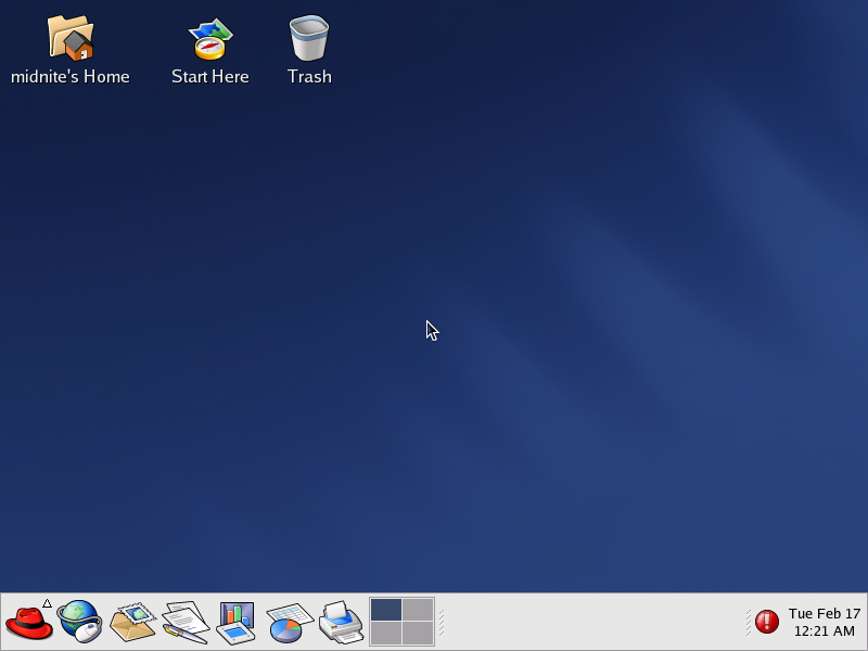 First run in GNOME 2.2.0 in RedHat 9