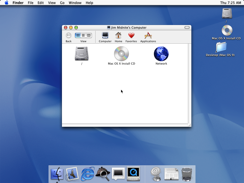 First run in Mac OS 10.0.4