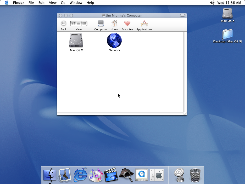 First run in Mac OS 10.1