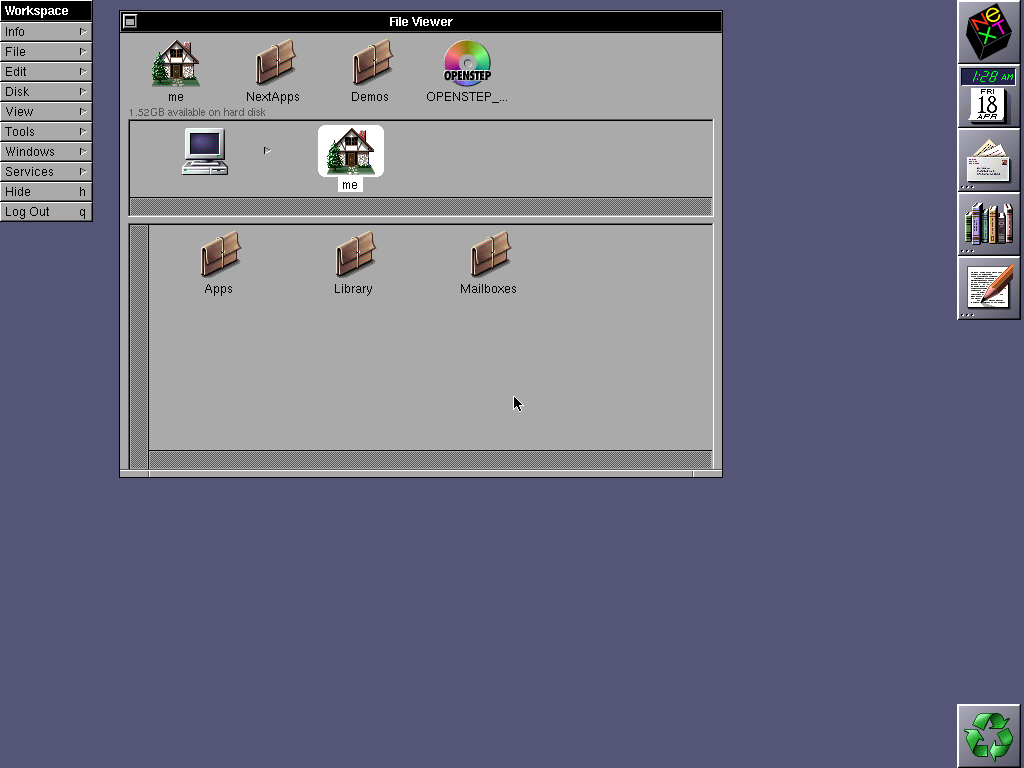 First run in OPENSTEP 4.2