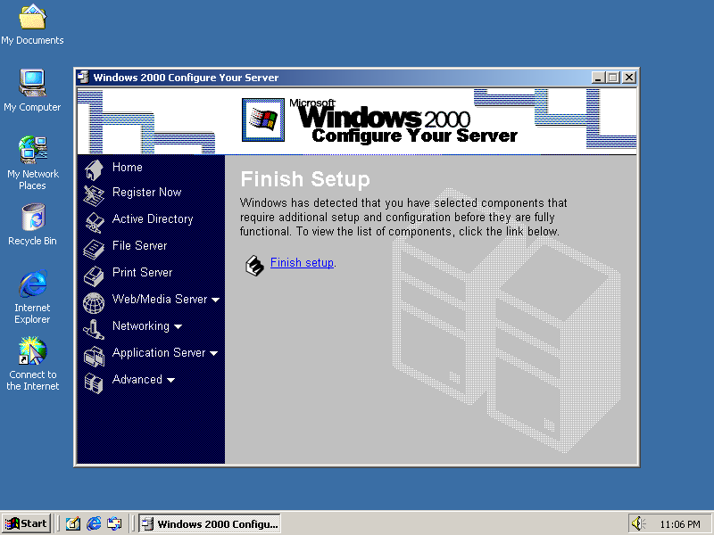 First run in Windows 2000 Advanced Server