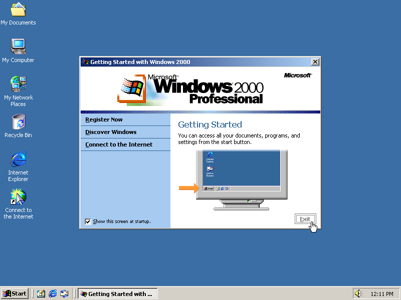 guidebook screenshots windows 2000 pro