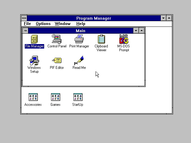 First run in Windows 3.1