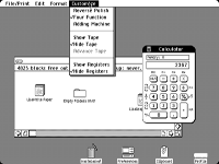 Desktop with applications in Lisa OS 1.0