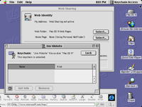 Desktop with applications in Mac OS 9.0