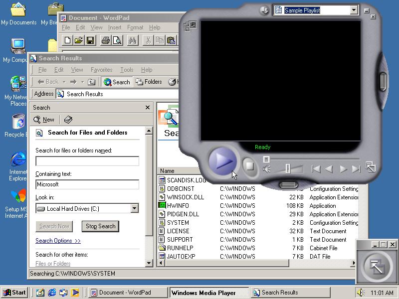 GUIdebook > Screenshots > Windows Me