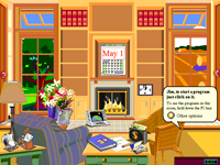 Main room in Microsoft Bob's house
