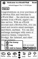 Mail in Newton OS 2.0