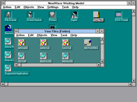 File manager in NewWave 4.0 Working Model