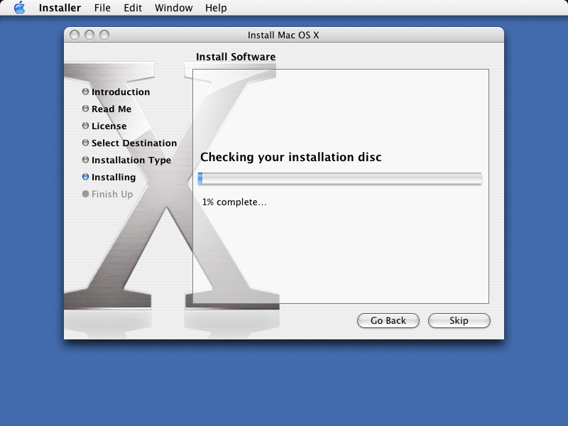 File copying in Mac OS X Panther
