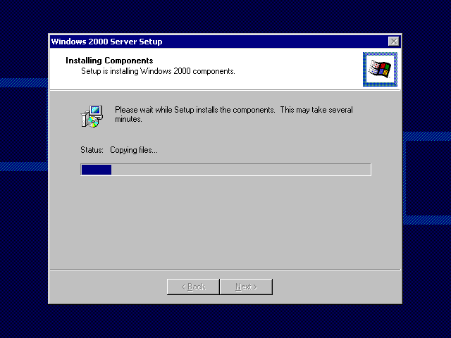 File copying in Windows 2000 Advanced Server