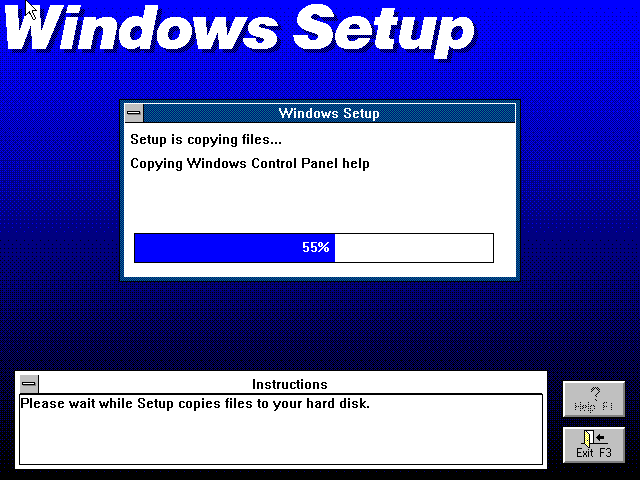 File copying in Windows 3.0