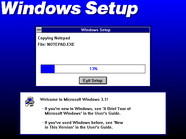File copying in Windows 3.1