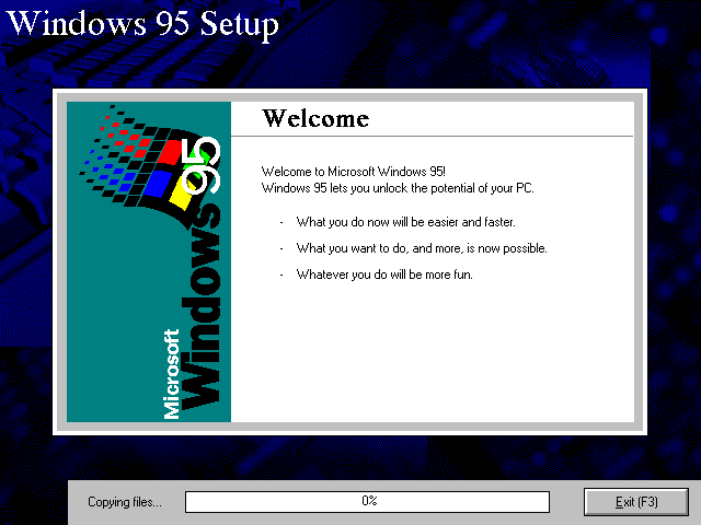 File copying in Windows 95B