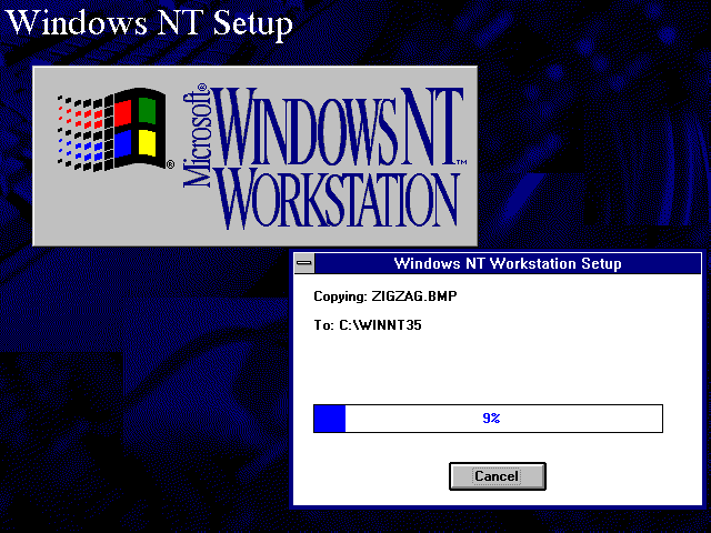 File copying in Windows NT 3.51 Workstation