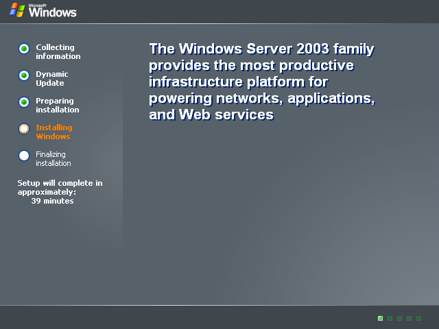 File copying in Windows Server 2003 Web