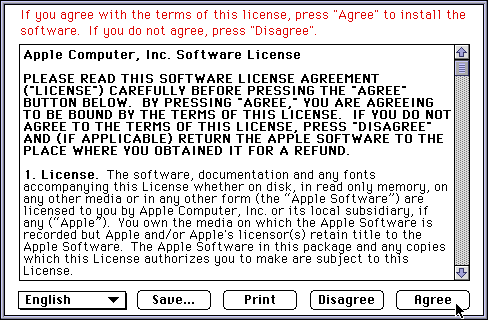 Licence in System 7.5.3