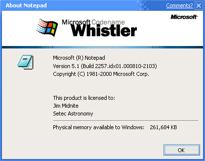 About application in Whistler 2257