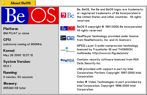 About GUI in BeOS R5.0.1 PE (About BeOS)