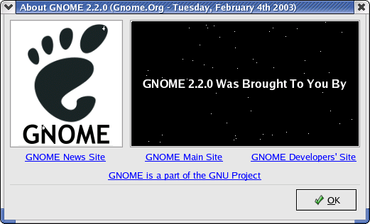 About GUI in GNOME 2.2.0 in RedHat 9