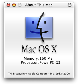 About GUI in Mac OS X DP 3 (About This Mac)