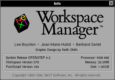 About GUI in OPENSTEP 4.2